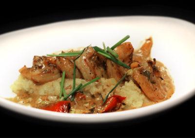 Black Pepper Shrimp + Polenta